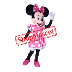 Mouse Clubhouse Deluxe Pink Miss Mouse Minnie Mascot Costume