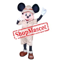 Mouse Clubhouse Safari Mickey Mouse Mascot Costume