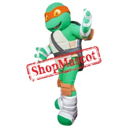 Orange Ninja Turtle Mascot Costume