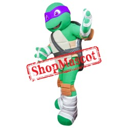 Purple Ninja Turtle Mascot Costume