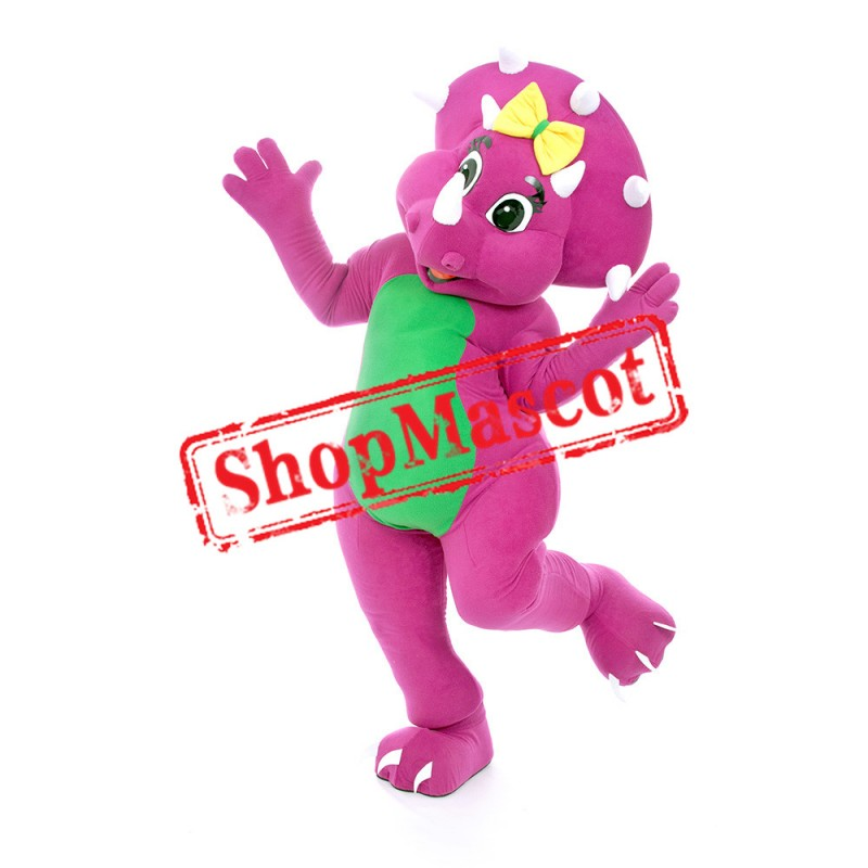 Purple Rhinoceros Mascot Costume