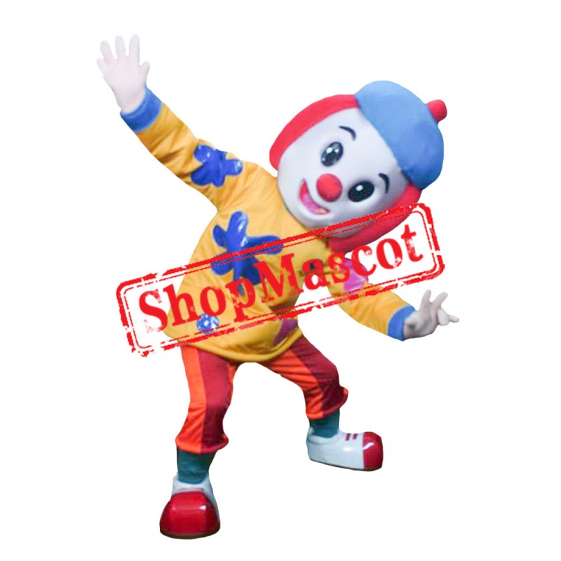 Circus Clown Mascot Costume