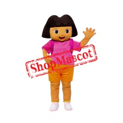 Girl Dora The Explorer Mascot Costume