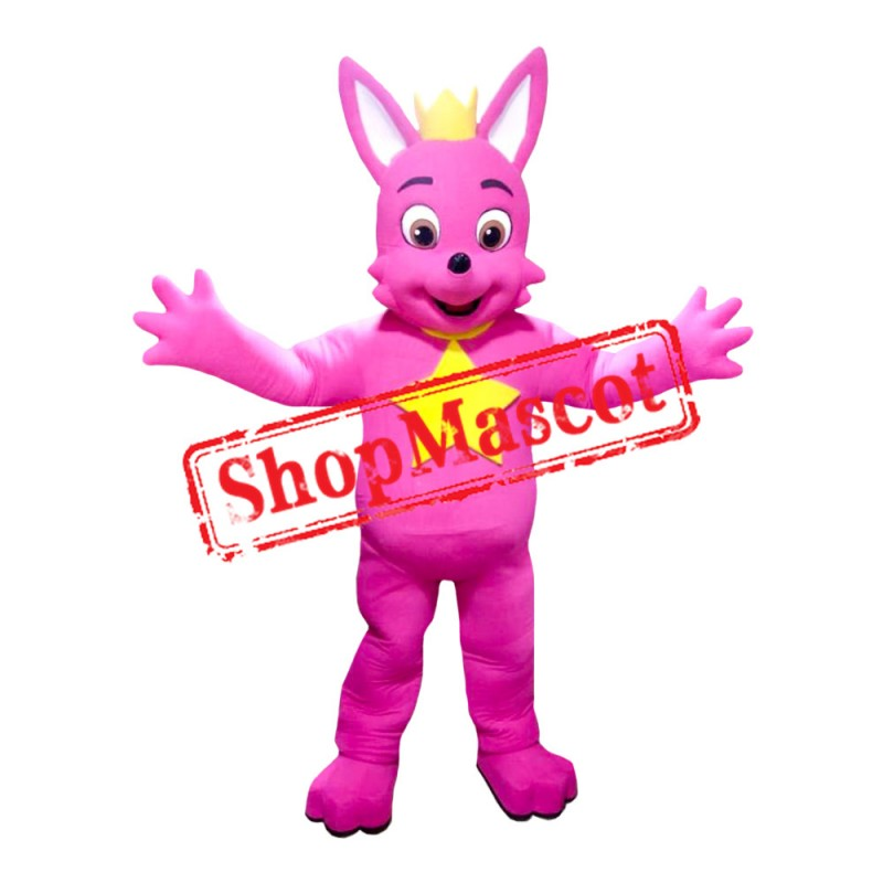 Hot Pink Fox 2 Mascot Costume