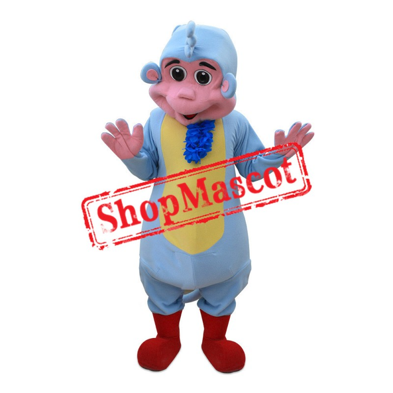 Blue Monkey Mascot Costume