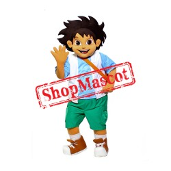 Boy Explorer Mascot Costume