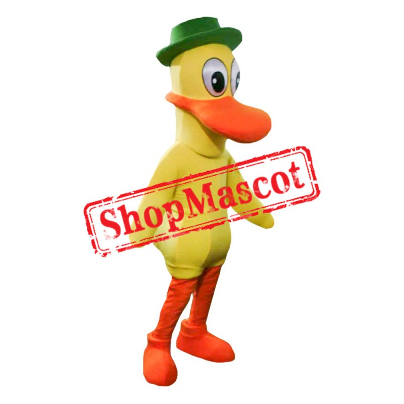 Yellow Duck Mascot Costume