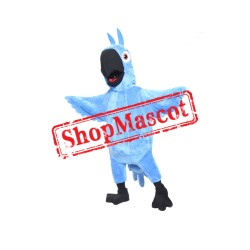 Blue Boy Macaw Mascot Costume