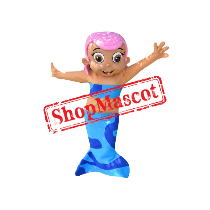 Pink Girl Mermaid Mascot Costume