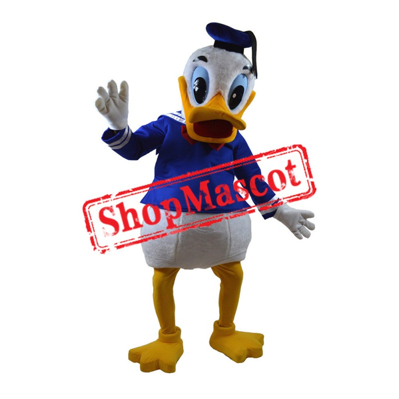 White Boy Duck Mascot Costume