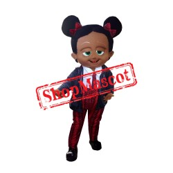 Baby Girl Black Mascot Costume