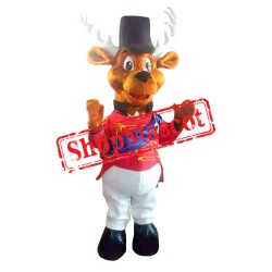 Rudolph The Red Nosed Reindeer 2 Mascot Costume