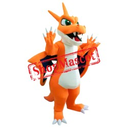 Orange Dragon Mascot Costume
