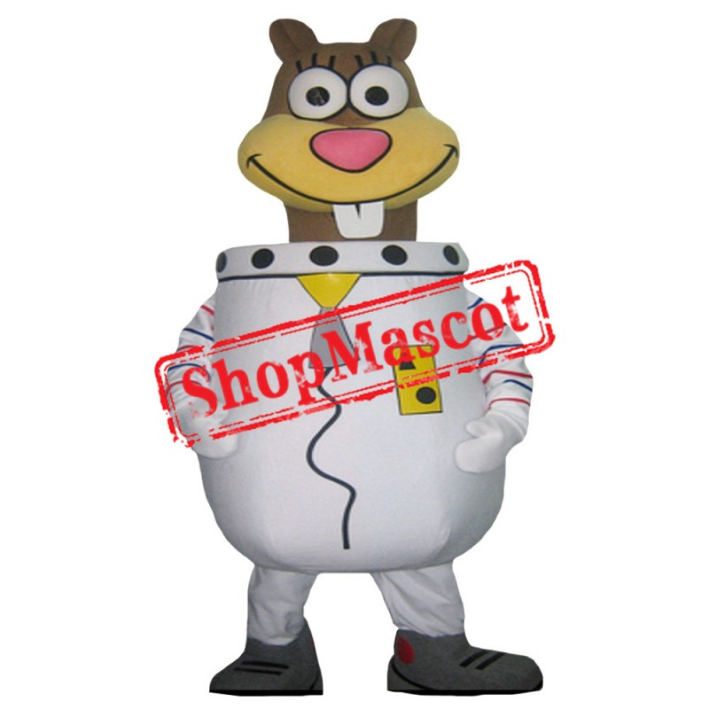 Sandy Sponge Square Pants Mascot Costume