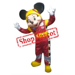 Mouse Clubhouse Racer Mickey Mouse Mascot Costume