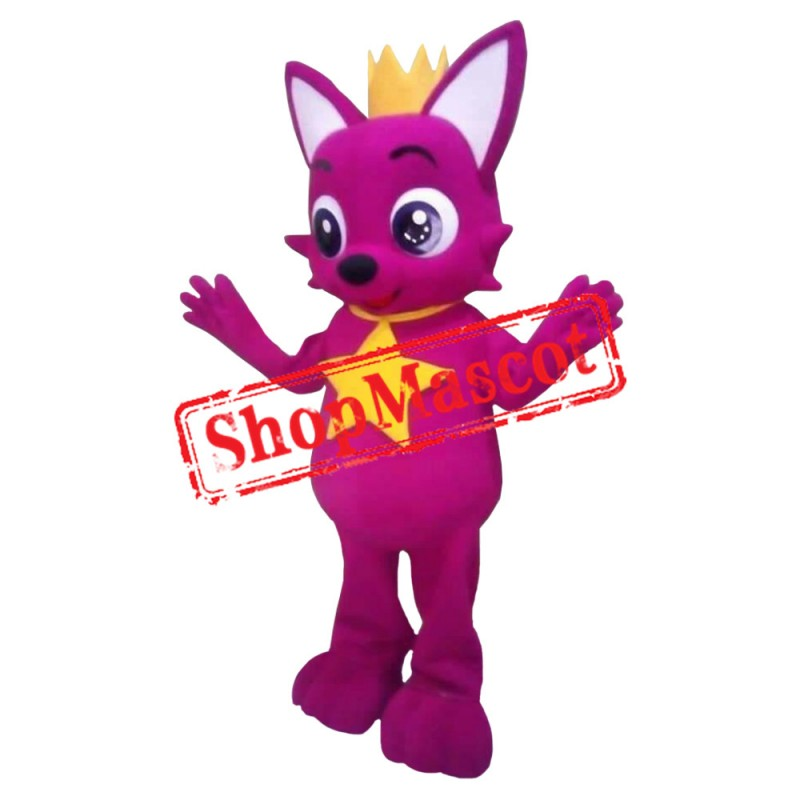 Hot Pink Fox 1 Mascot Costume