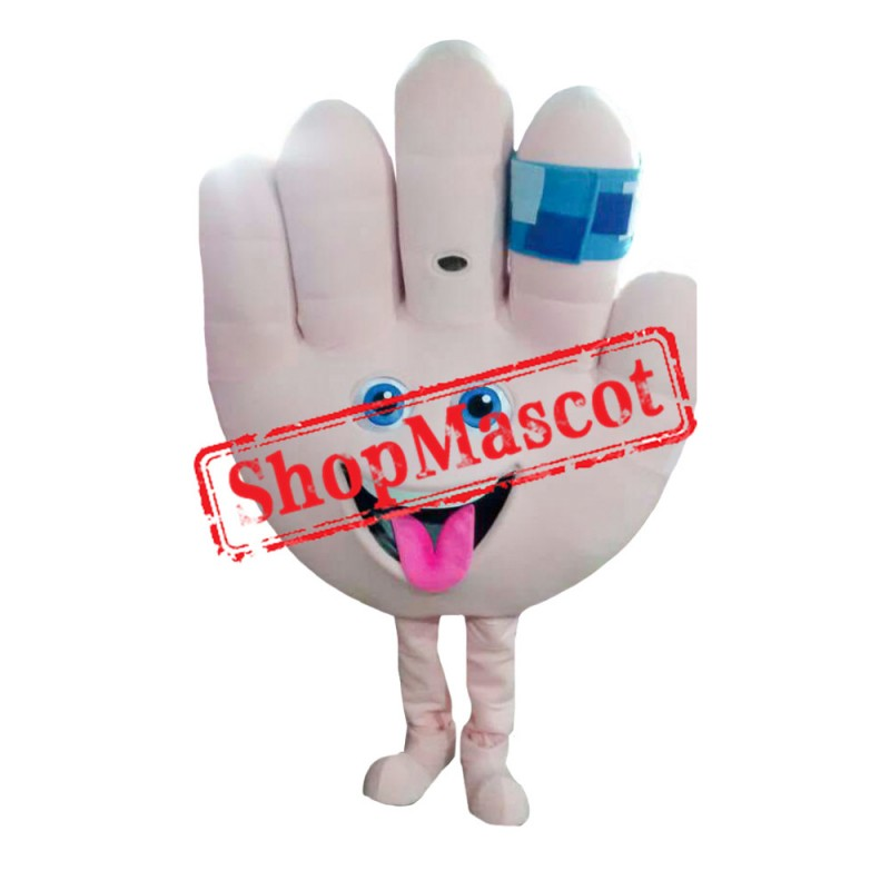 Hand With Band Aid Mascot Costume