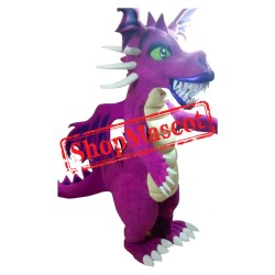 Purple Dragon Mascot Costume