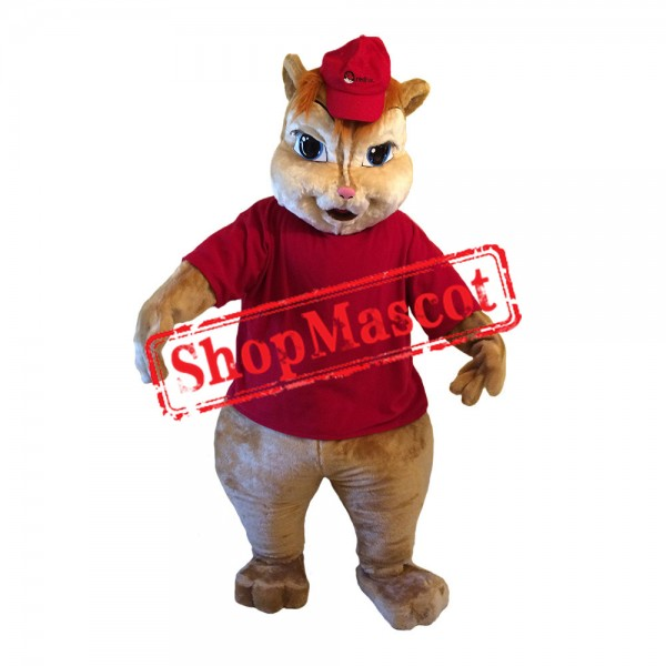 Red Chipmunk Mascot Costume
