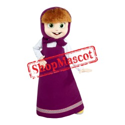 Masha And The Bear Masha Girl Mascot Costume