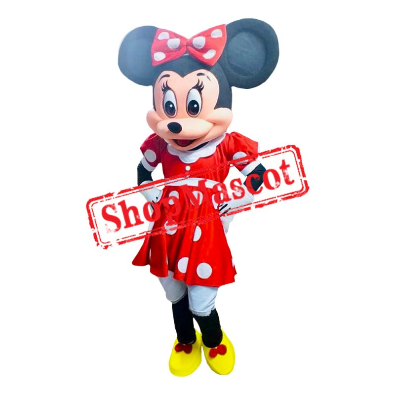 Mouse Clubhouse Red Lady Mouse Minnie Mascot Costume