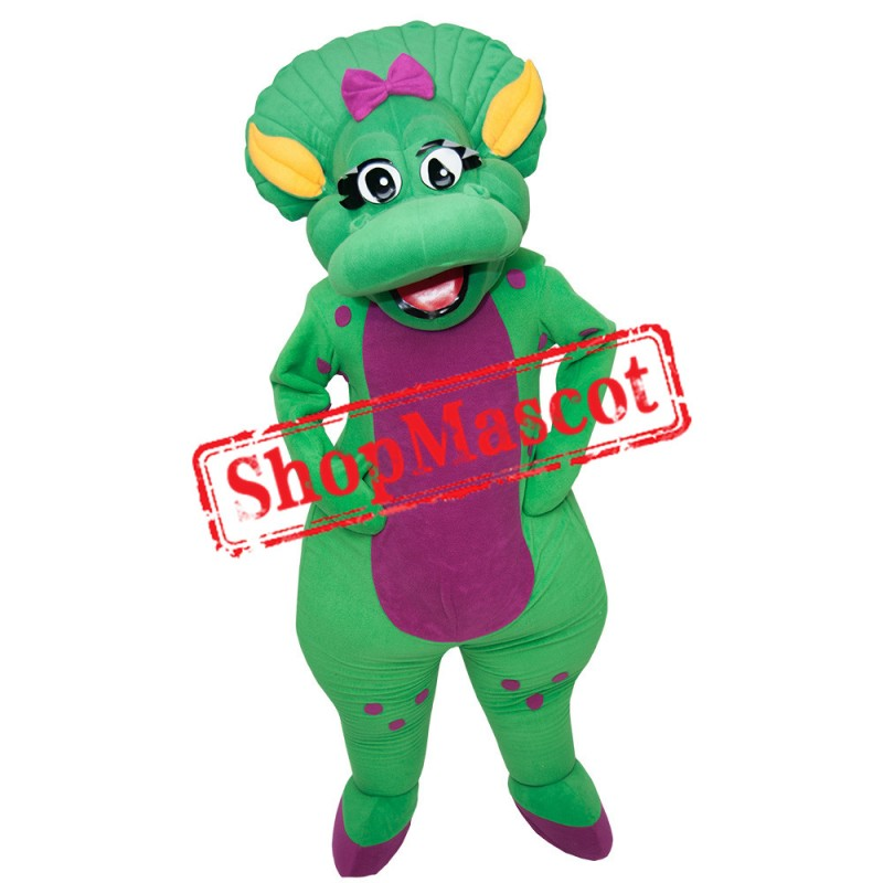 Green Triceratops Mascot Costume