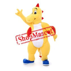 Yellow Boy Dragon Mascot Costume
