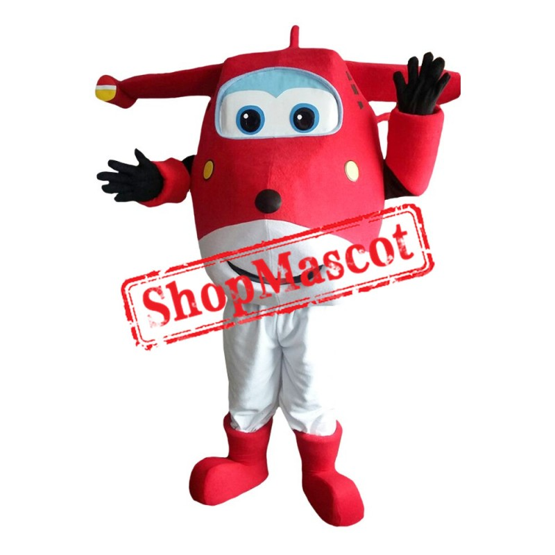 Super Wings Jett Red 2 Mascot Costume