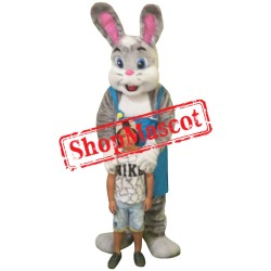 Big Gray Bunny Mascot Costume