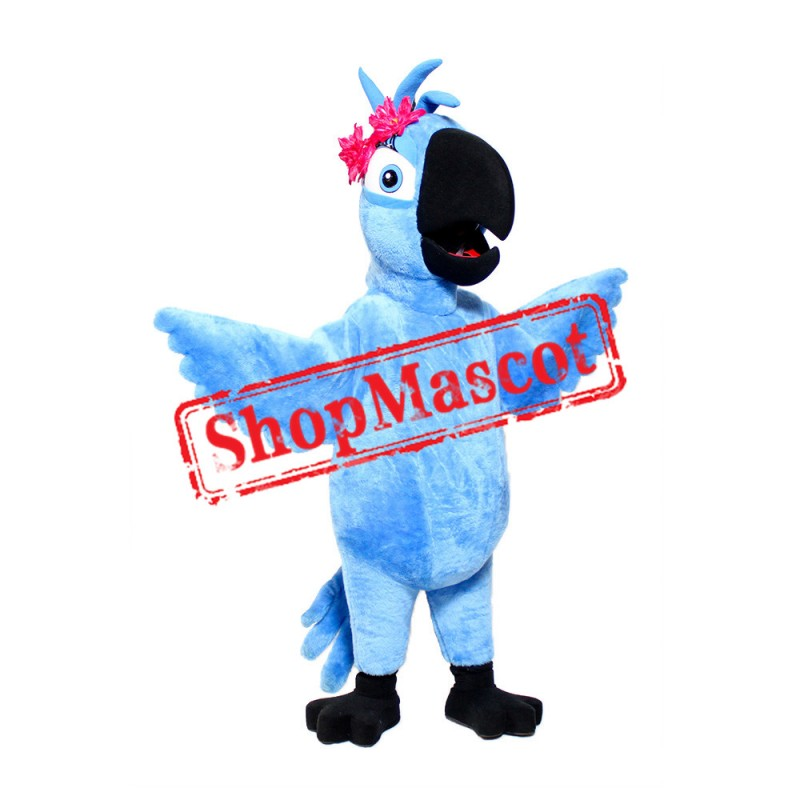Blue Girl Macaw Mascot Costume