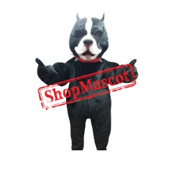 Black Pitbull Mascot Costume