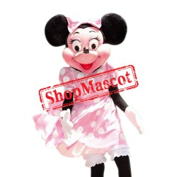 Mouse Clubhouse Deluxe Fiber Pink Minnie Mouse Mascot Costume