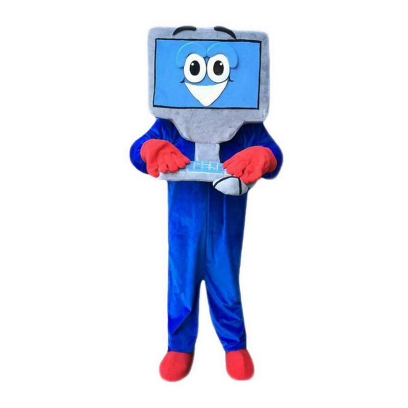 Blue Computer Mascot Costumes Free Shipping
