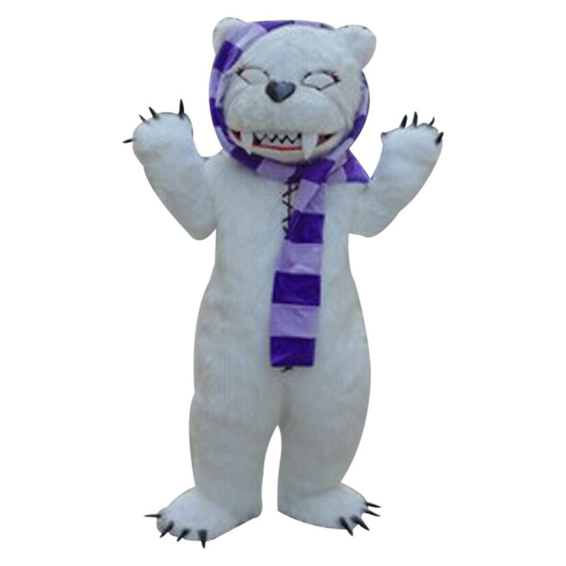 White Beggar Bear Mascot Costumes Free Shipping