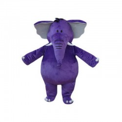 Purple Elephant Mascot Costumes Free Shipping