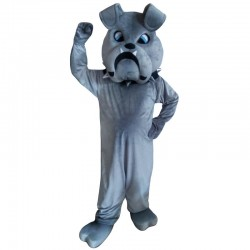 Grey Bulldog Mascot Costumes Free Shipping