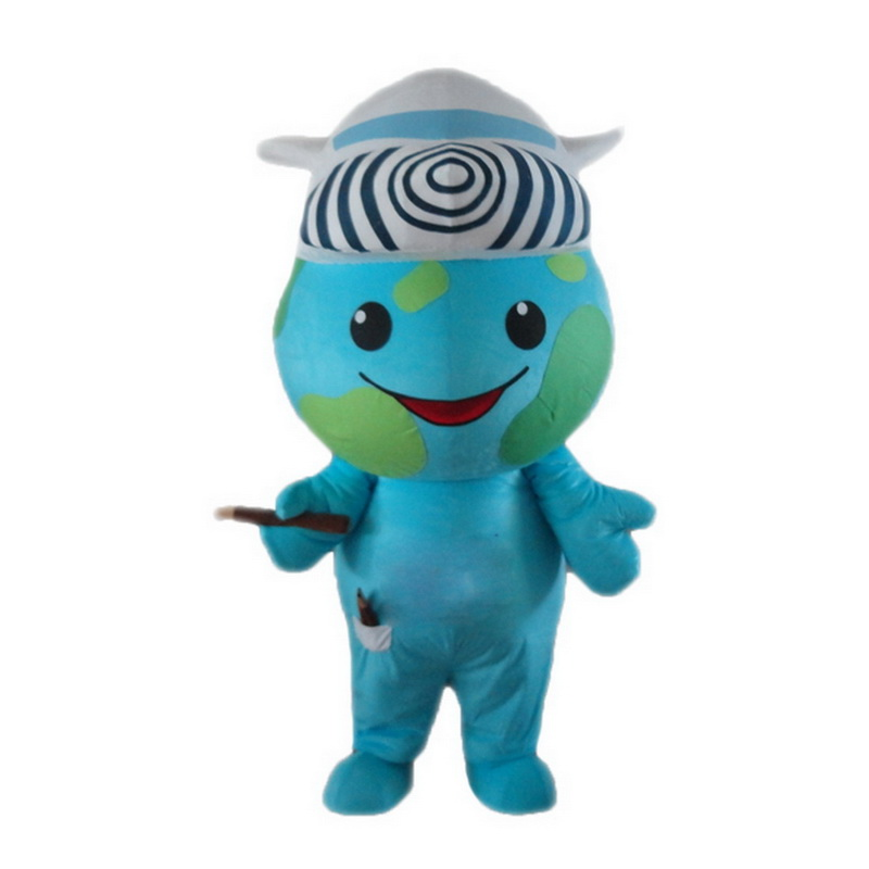 Earth Mascot Costumes Free Shipping