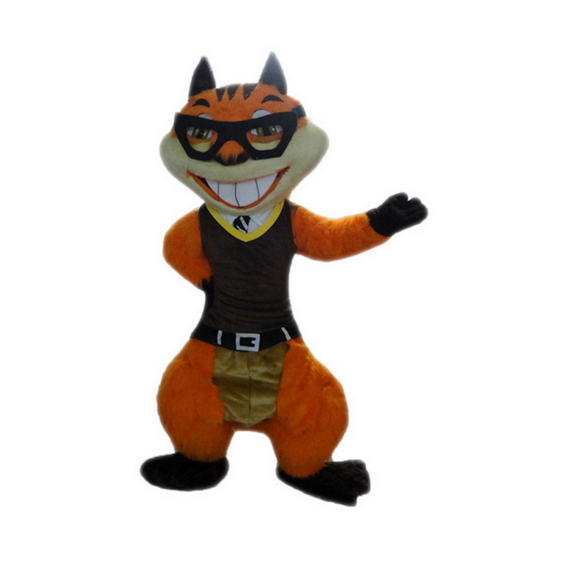 Orange Squirrel Mascot Costumes Free Shipping