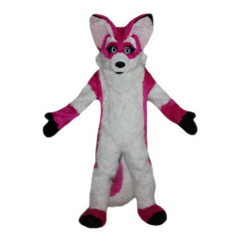 Pink Fox Mascot Costumes Free Shipping