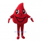 Red Blood Drops Mascot Costume For Adults
