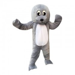 Grey Sea Lion Mascot Costume