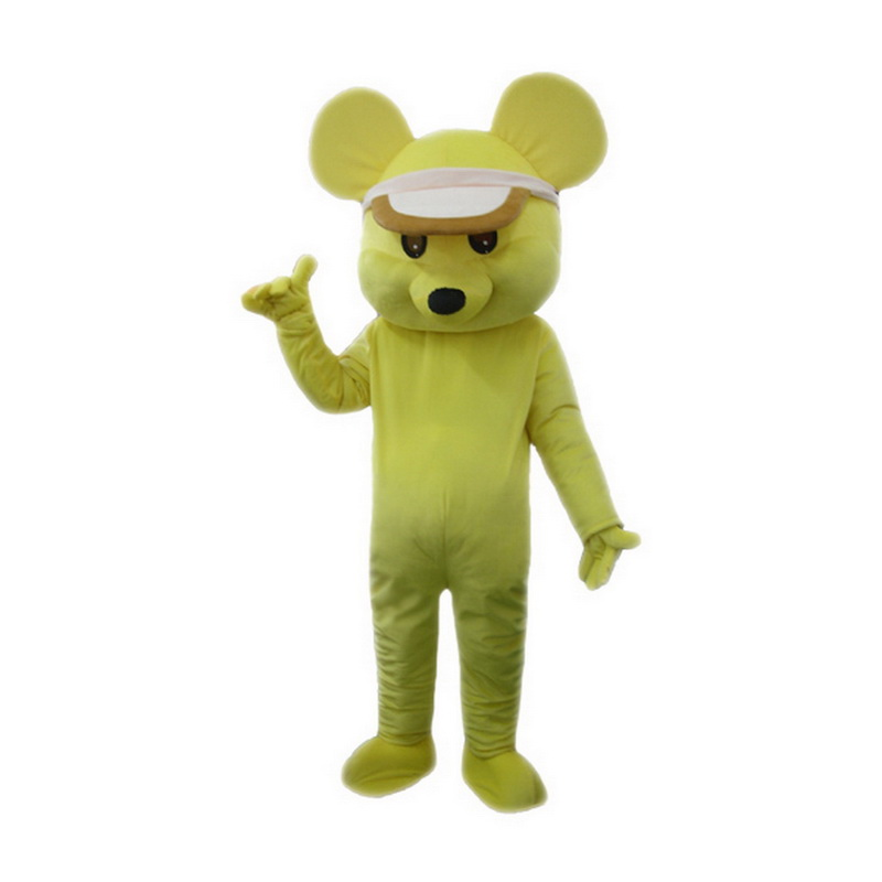 Yellow Mouse Mascot Costume Free Shipping