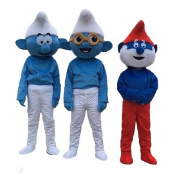 New Blue Elves Mascot Costume Elf Costume