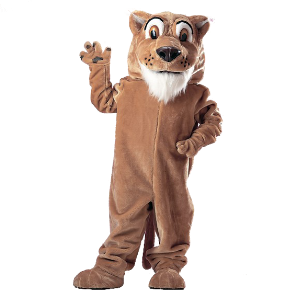 Corby Cougar Mascot Costume Free Shipping