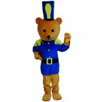 Bear Police Mascot Costume Free Shipping