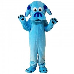 Sky Blue Dog Mascot Costume Free Shipping