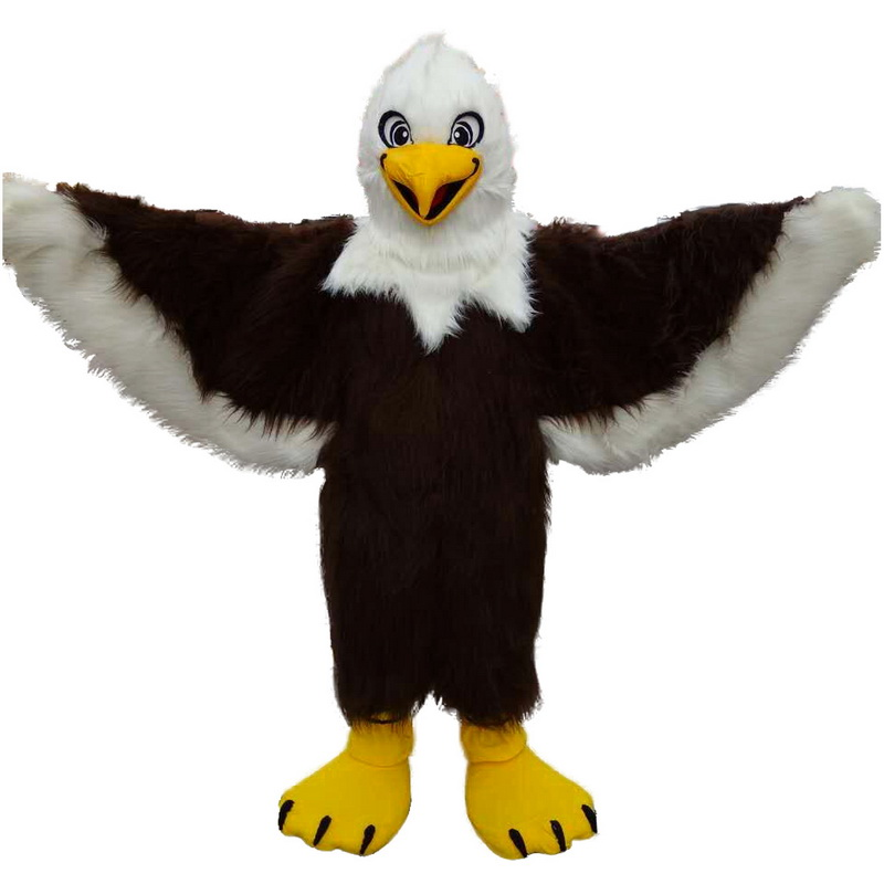 Brown Eagle Long Wool Mascot Costume