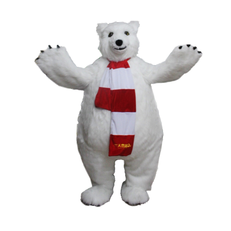 Polar Bear Mascot Costume Free Shipping