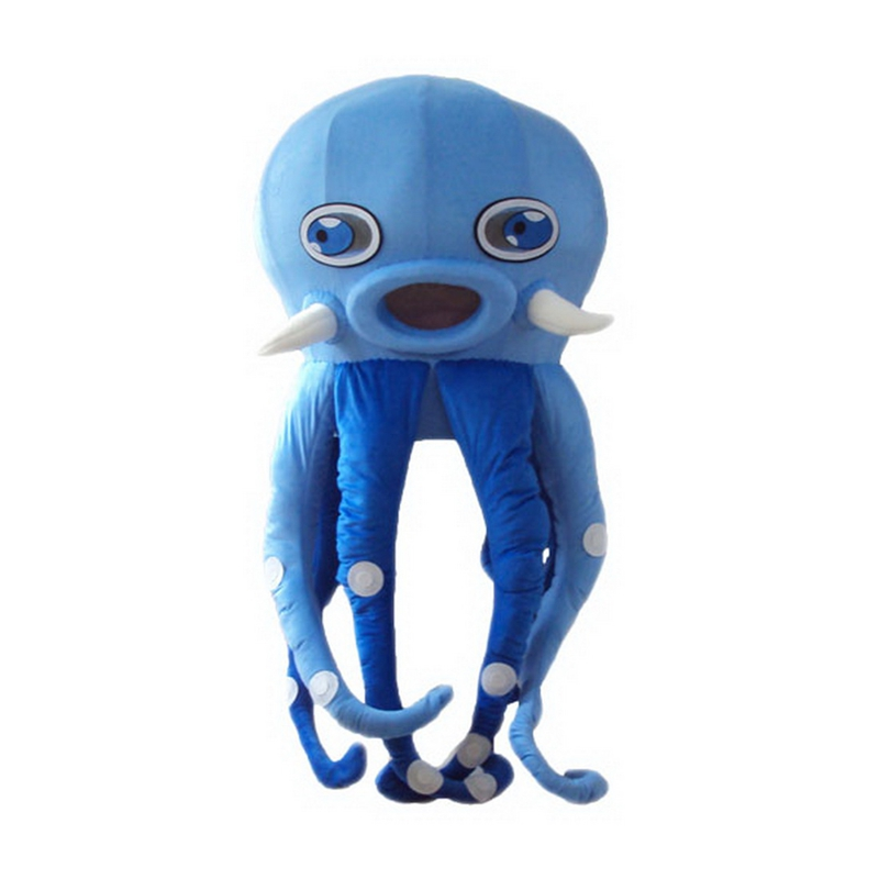 Blue Octopus Mascot Costume Free Shipping