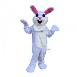 White Easter Bunny Mascot Costume Free Shipping